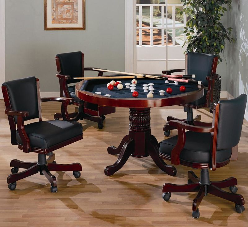 Mitchell Game Table Set in Merlot