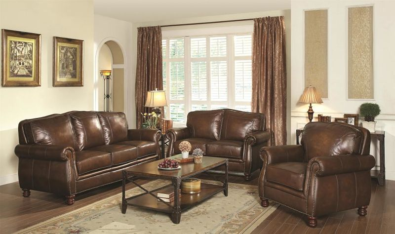 Coaster | 503981 Montbrook Leather Living Room Set | Dallas Designer  Furniture