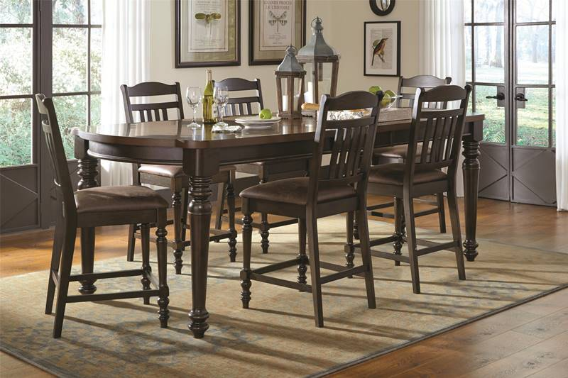 Mulligan Country Kitchen Counter Height Table Set
