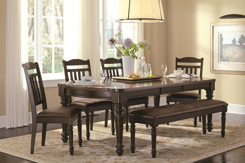 Mulligan Country Kitchen Table Set with Bench