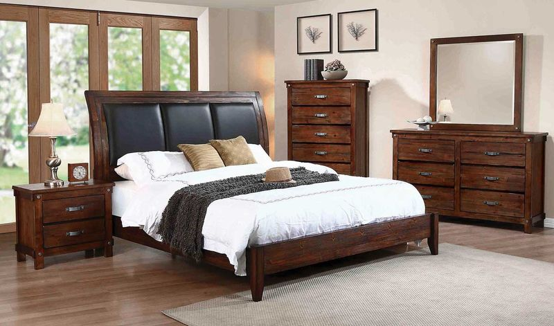 Noble Bedroom Set with Upholstered Headboard