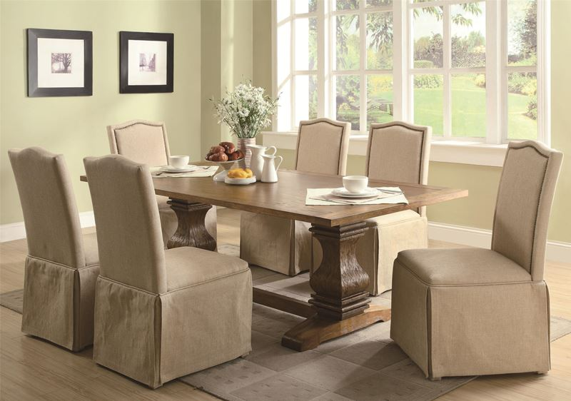Parkins Formal Dining Room Set with Parsons Chairs