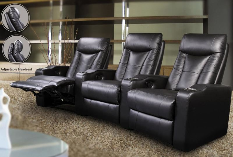 Pavillion Home Theater Set in Black