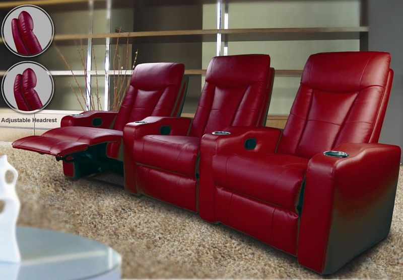 Pavillion Home Theater Set in Red