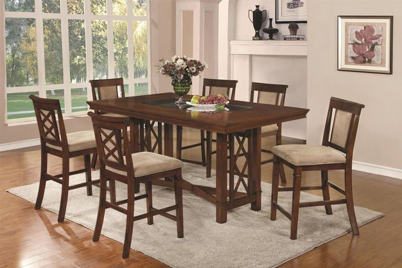 Pembrook Counter Height Dining Room Set with Inset Glass Top