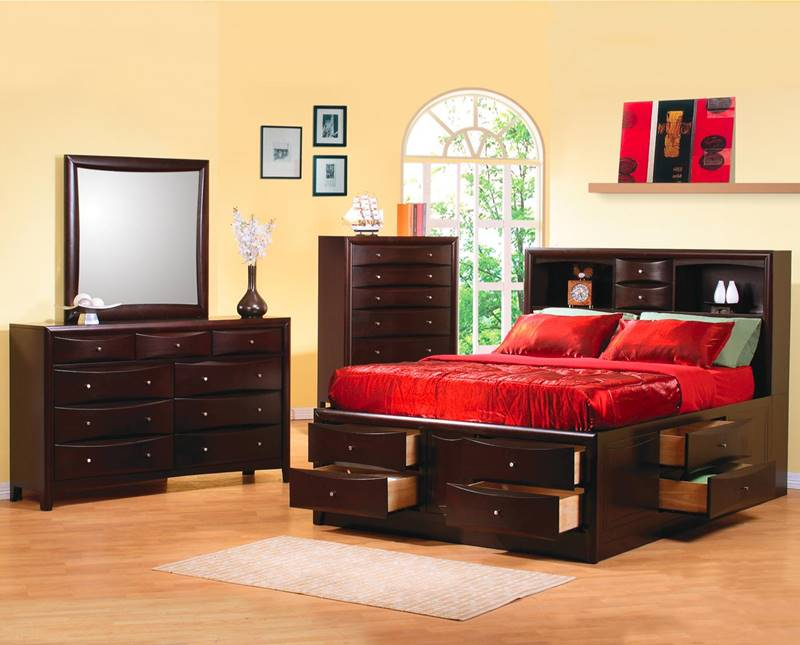 Phoenix Bedroom Set with Large Storage Bed