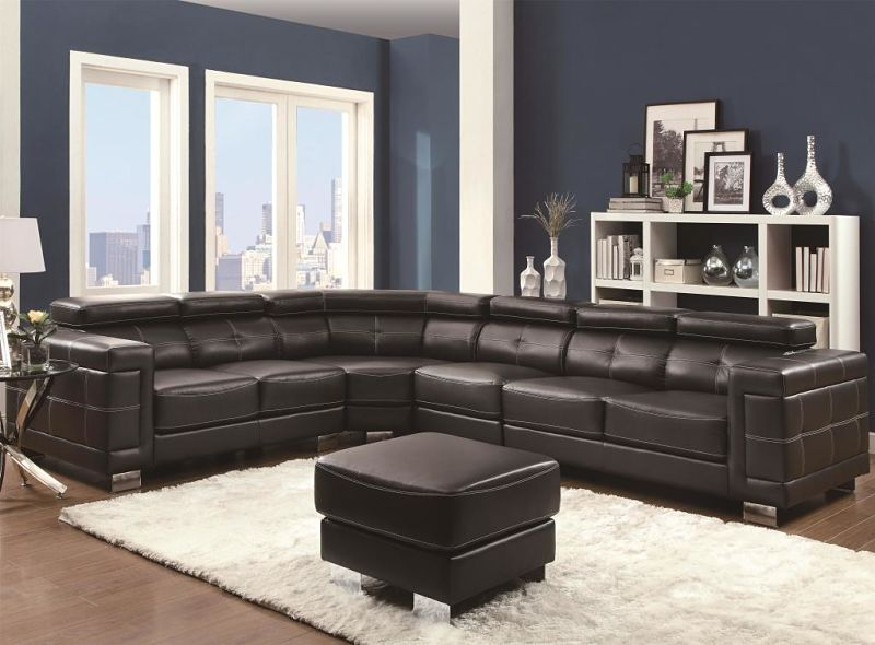 Ralston Leather Sectional
