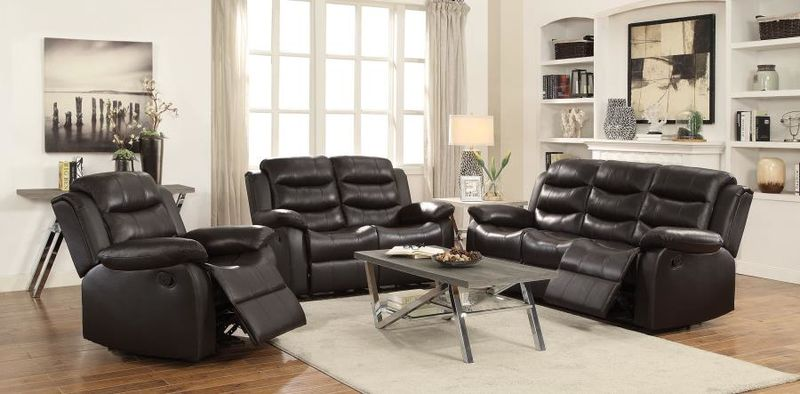 Rodman Reclining Leather Living Room Set