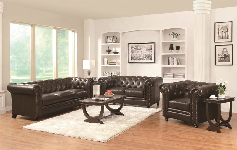 Roy Leather Living Room Set