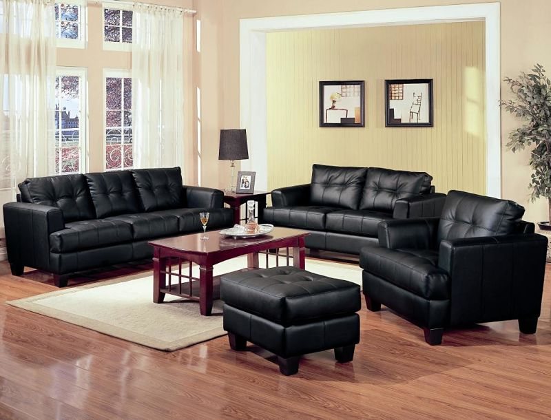 Samuel Living Room Set in Black