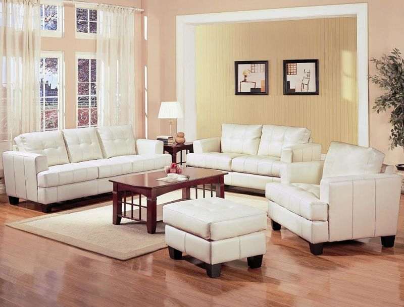 Samuel Living Room Set in Cream