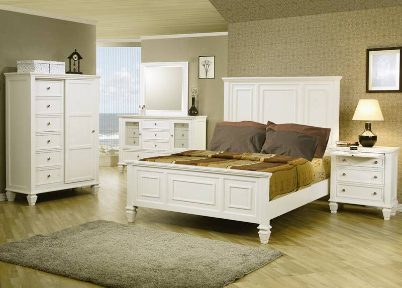 Sandy Beach Bedroom Set in White