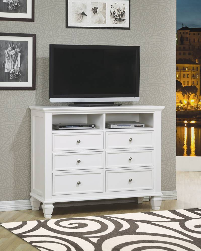 Dallas Designer Furniture | Sandy Beach Bedroom Set in White