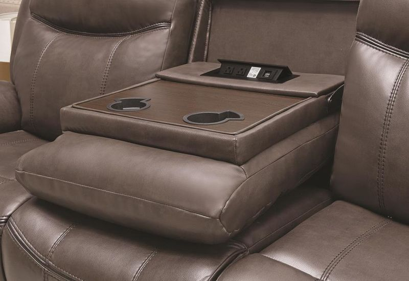 Sawyer Reclining Living Room Set in Brown