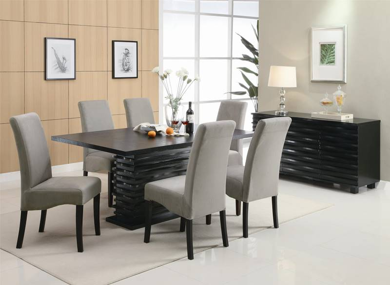 Stanton Dining Table Set with Grey Chairs