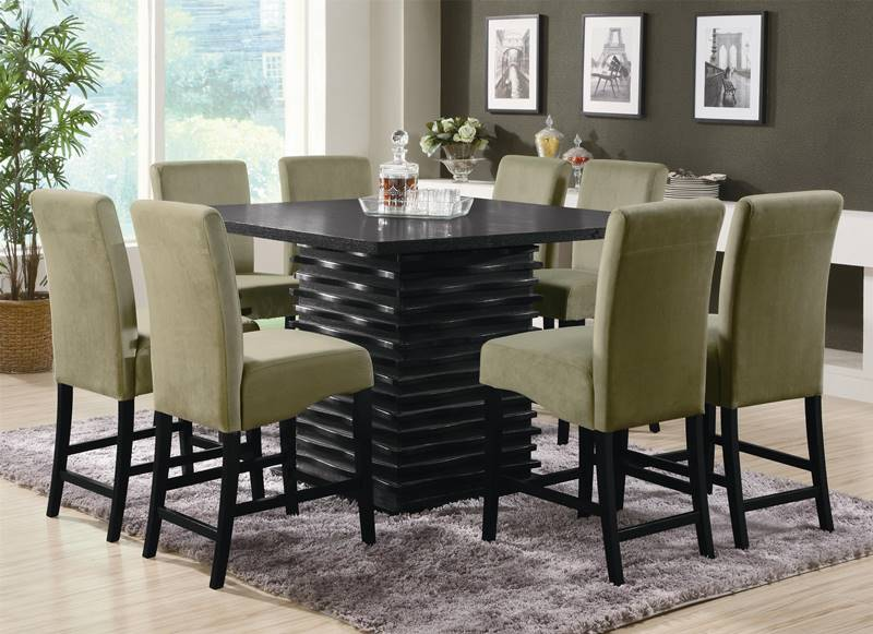 Stanton Counter Height Table Set with Green Chairs