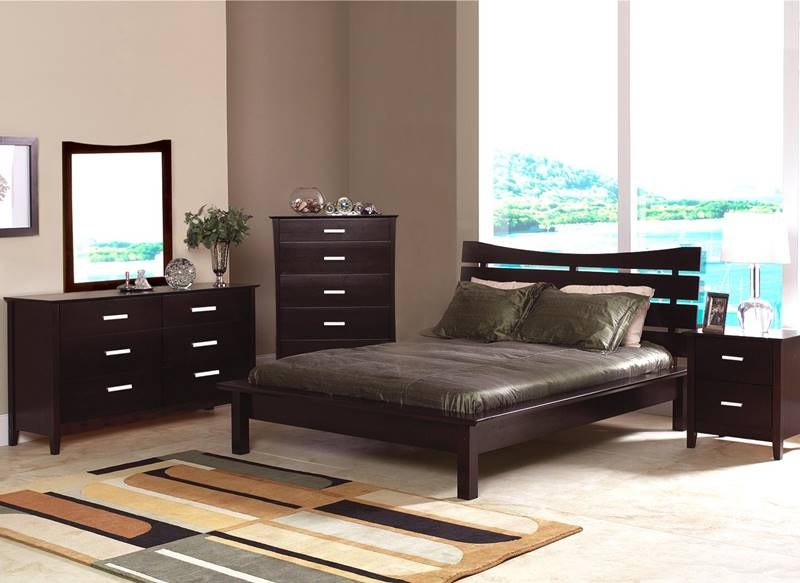 Stuart Bedroom Set with Slat Headboard Platform Bed