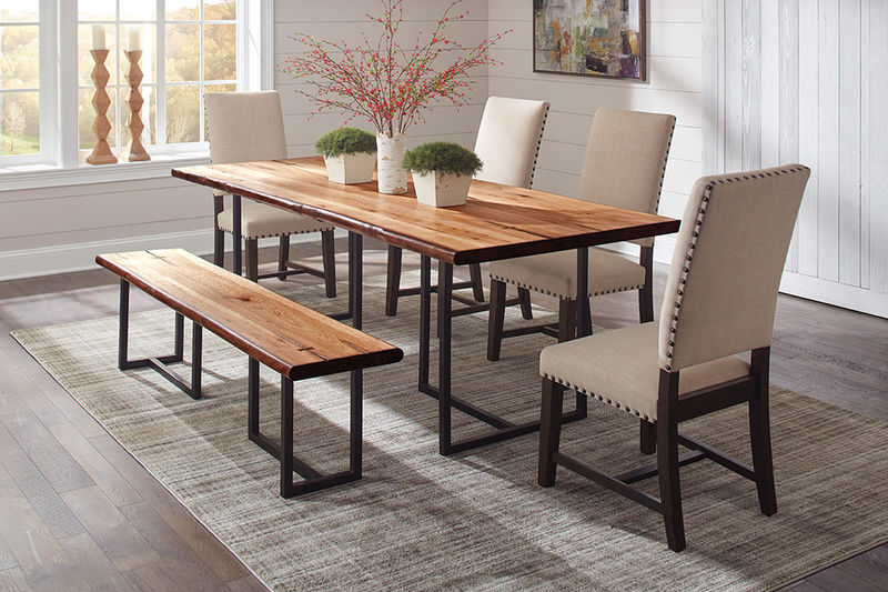 Suthers Dining Room Set with Beige Chairs