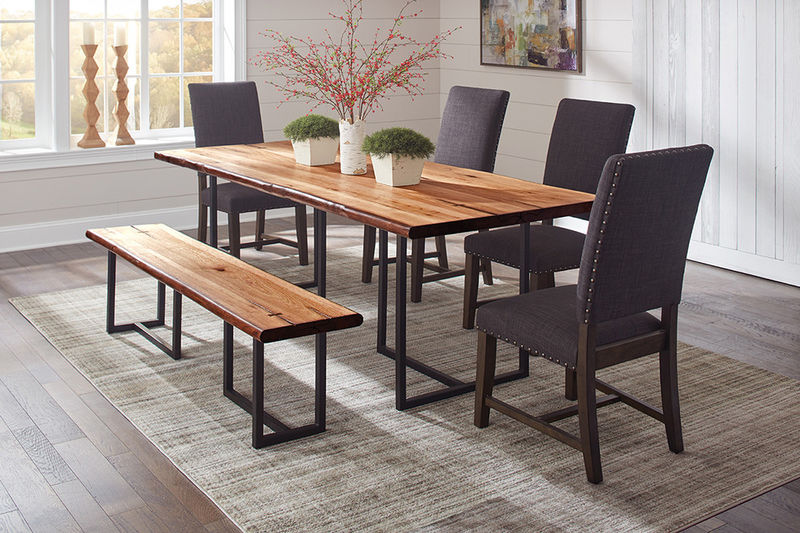 Suthers Dining Room Set with Black Chairs
