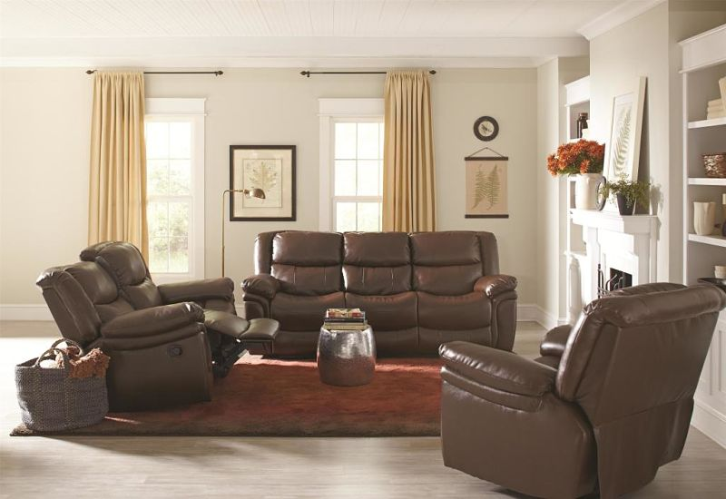 Tamilla Reclining Leather Living Room Set