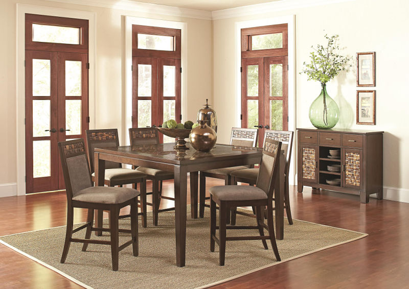 Trinidad Mosaic Counter Height Dining Set