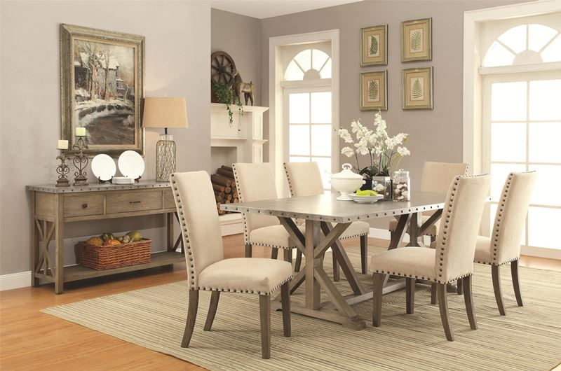 Dallas Designer Furniture Webber Rustic Driftwood Dining