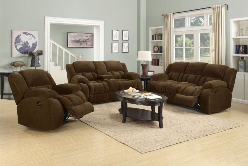 Weissman Reclining Living Room Set in Brown