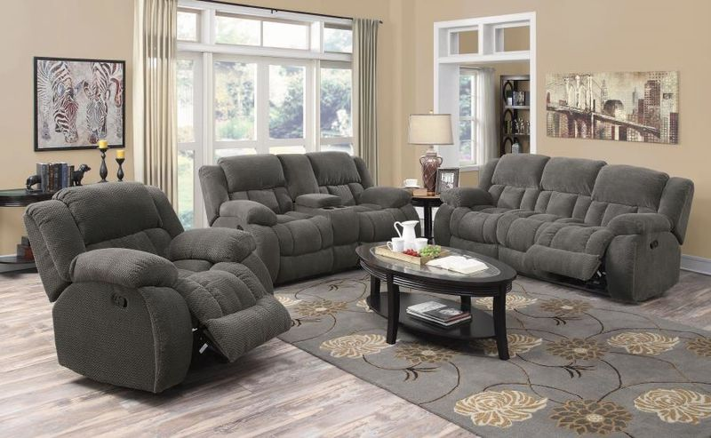 Weissman Reclining Living Room Set in Charcoal