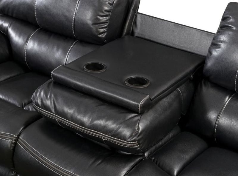 Willemse Reclining Living Room Set in Black