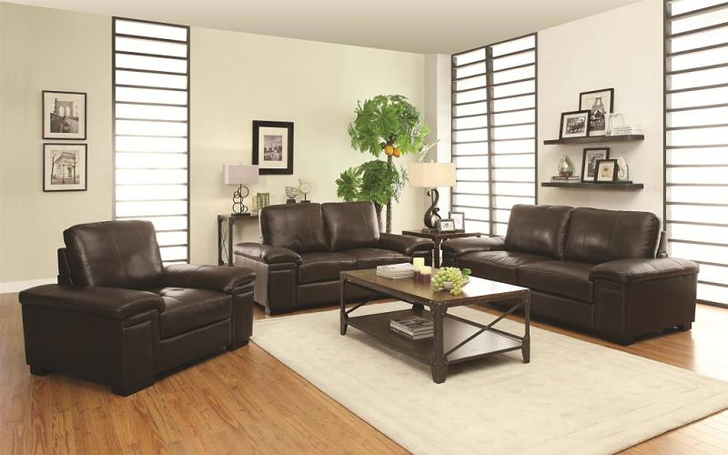 Winfred Leather Living Room Set