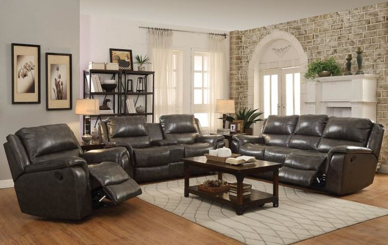 Wingfield Reclining Leather Living Room Set with Power Motion