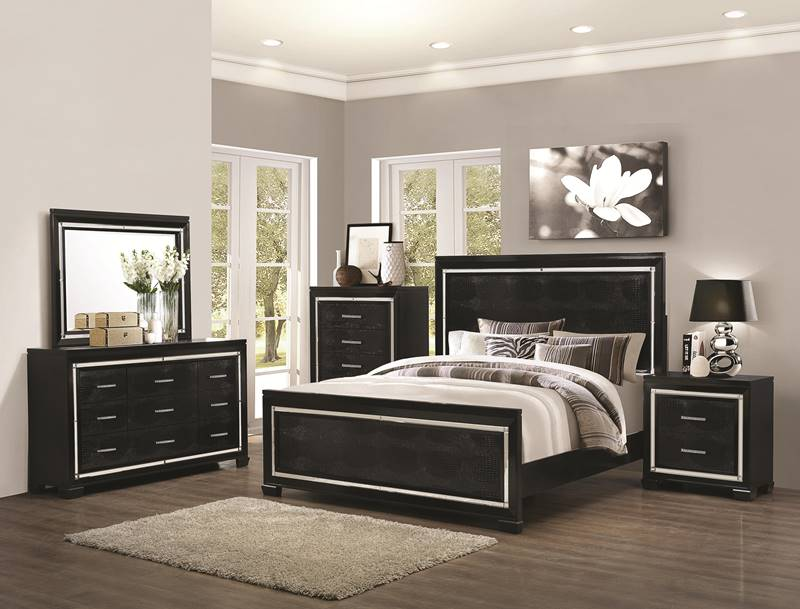Zimmer Crocodile Accented Bedroom Set