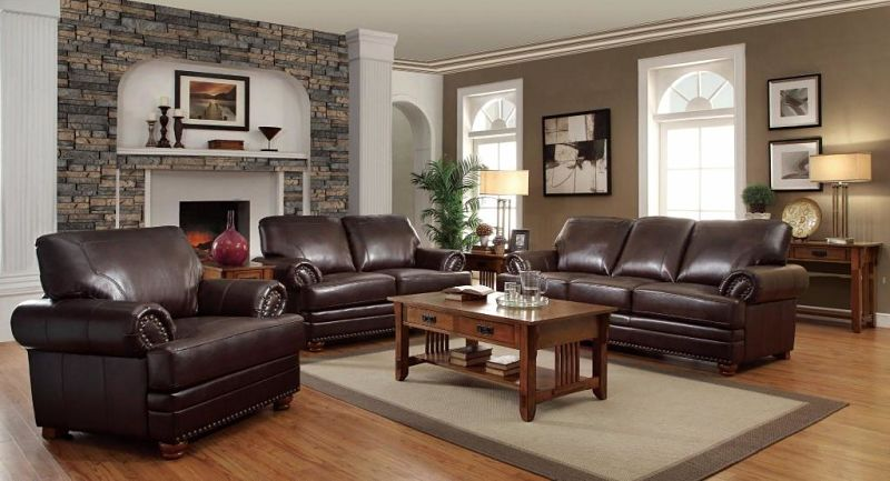 Colton Leather Living Room Set