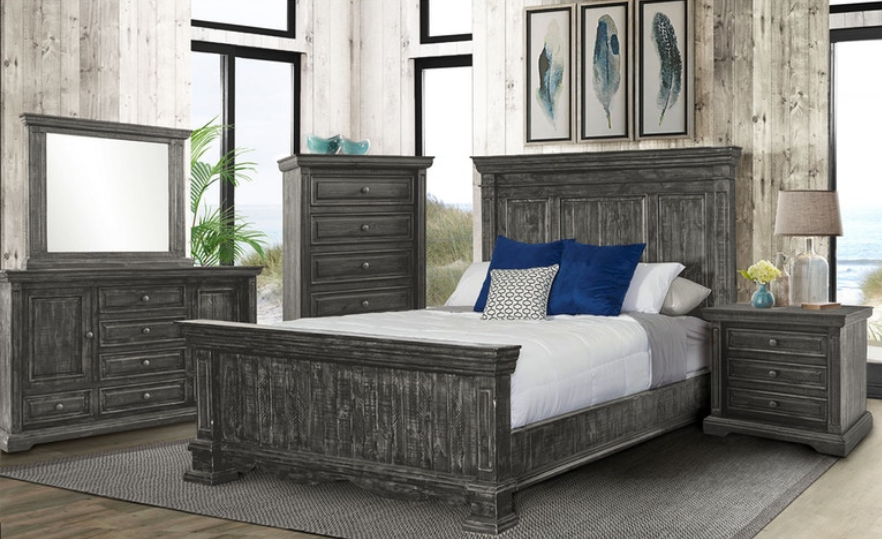 Condesa Grey Rustic Bedroom Set