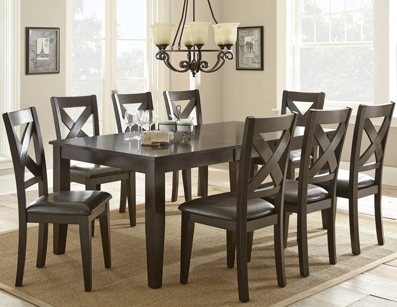 Counter Height Nailhead Chairs : ... Furniture Antonio II Counter Height Table Set with White Nailhead