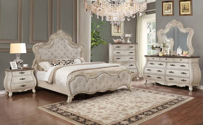 B1000 Ashford Antique White Traditional Bedroom Set | Dallas Designer  Furniture