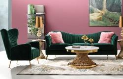 Ava Sofa in Emerald Velvet