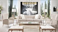 Ava Sofa in Sand Linen Upholstery