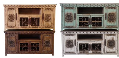 Diego Rustic TV Stand 2 Sizes 6 Colors