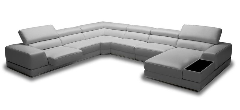 Divani Casa Chrysanthemum Modern Grey Sectional