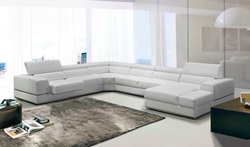 Divani Casa Modern White Sectional Sofa