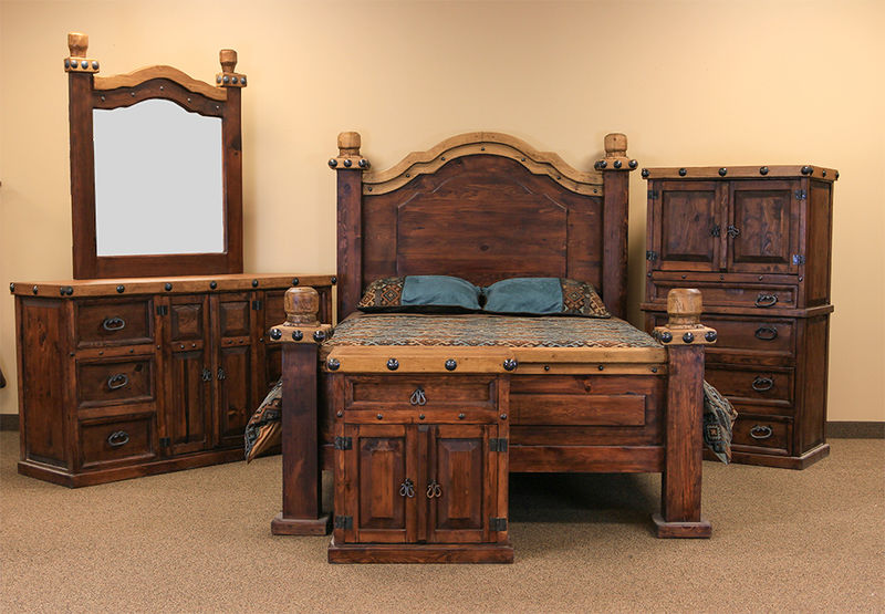 Don Carlos Nogal Rustic Bedroom Set