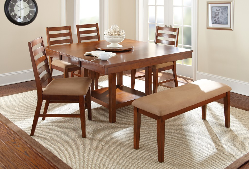 Eden Dining Table Set With Upholstered Bench ...