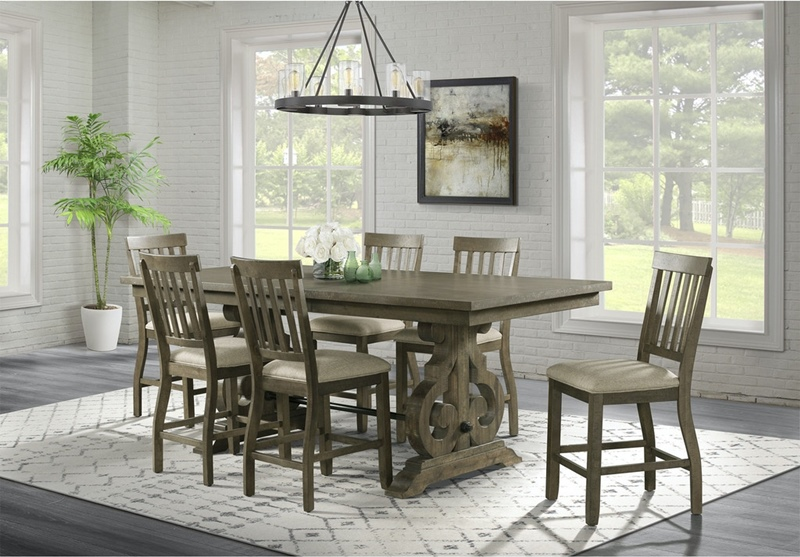Stone Grey Counter Height Dining Room Set
