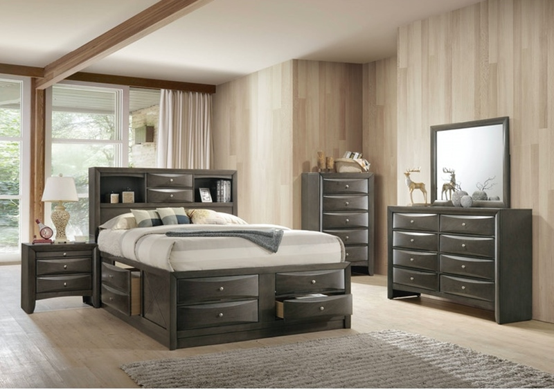 Emily Grey Bedroom Set