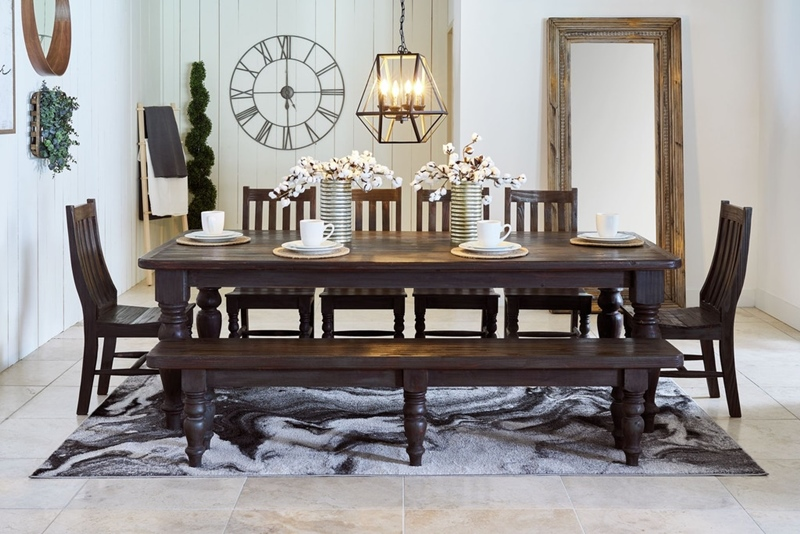 Ira Dining Room Set in Grey Red
