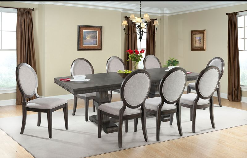 Morrison Dining Room Set with Fabric Side Chairs