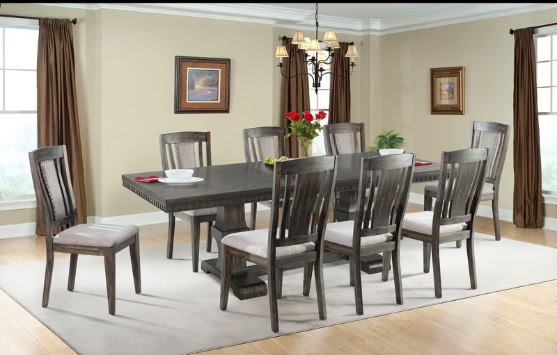 Morrison Dining Room Set with Wood Side Chairs