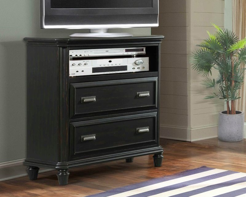 Mystic Bay Storage Bedroom Set in Black