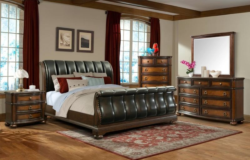 Palmer Bedroom Set with Sleigh Bed